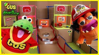 Giant Box Fort Maze + Box Fort Ryan's World & Chuck E Cheese