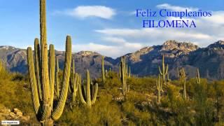 Filomena   Nature & Naturaleza - Happy Birthday
