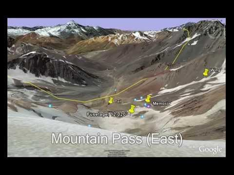 Alive Flight Crash Site In Google Earth YouTube - Mountainous aircraft accidents map us