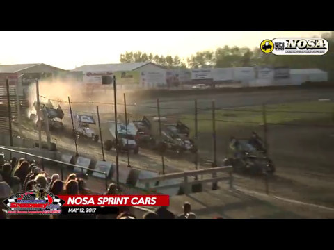 River Cities Speedway NOSA Sprint Car Heat 3 - May 12th, 2017