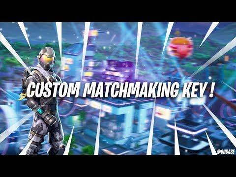 private matchmaking keys for fortnite