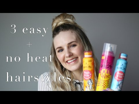 HAIR || no heat hair tutorials using got2b® hairstyling products
