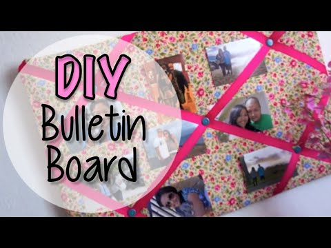 Fabric Bulletin Board DIY - Easy and Lightweight
