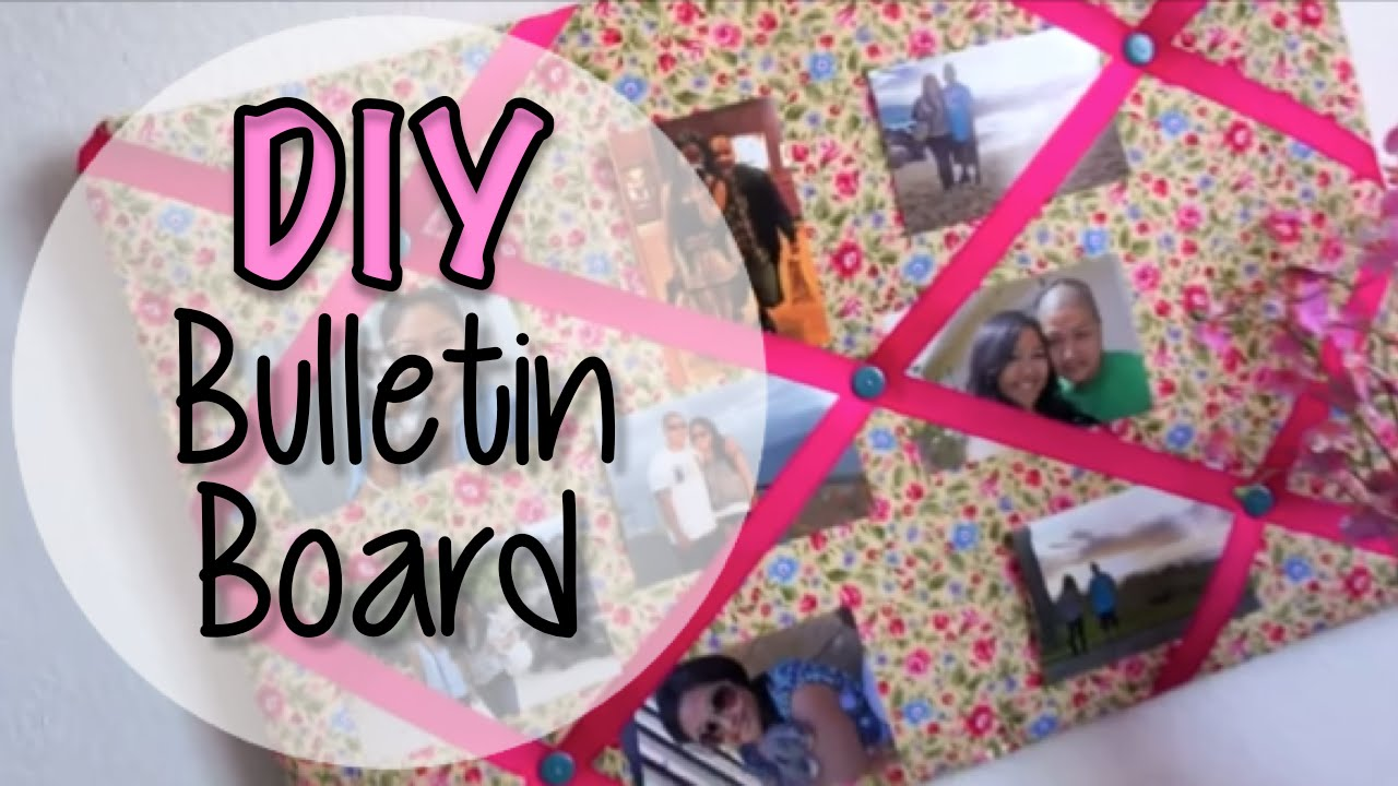 Fabric Bulletin Board DIY - YouTube