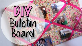 Fabric Bulletin Board Diy