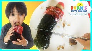 How to Make GIANT Gummy Coca Cola Bottle CHALLENGE DIY Jelly Dessert Disney Cars Toy Ryan ToysRewiew