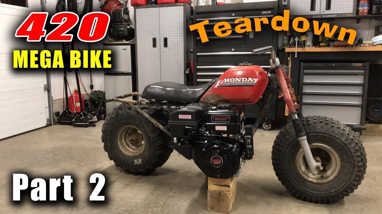 MEGA Bike Build Pt  2 - Honda Big Red ATC w/ Predator 420 - Teardown