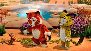 Лео и Тиг сборник серий с 34 по 36 Детям про животных Мультфильм HD