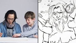 Talbott Describes God to Koji the Illustrator
