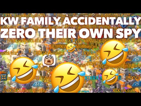 KW Family ACCIDENTALLY ZERO THEIR OWN SPY ACCOUNT Lords Mobile