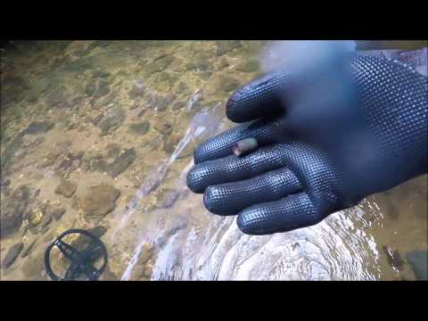 Metal Detecting Wilderness Creek: Found Silver! High Five me!!