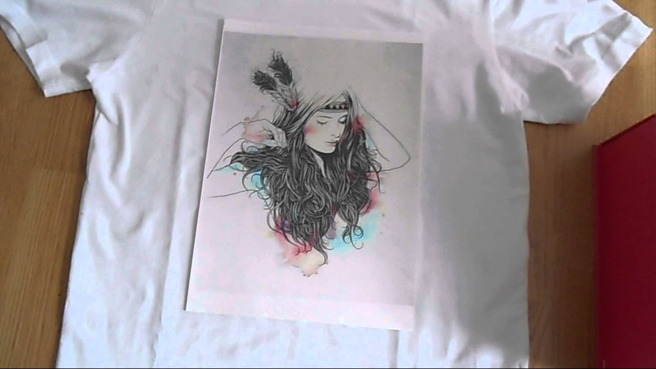Test le papier transfert action diy t shirt youtube - Transfert sur t shirt ...