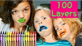100 LAYERS CRAYOLA LIPSTICK   NASTY