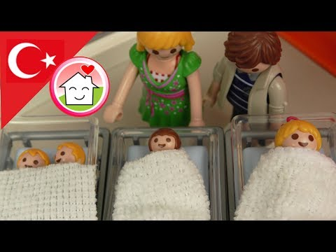 Playmobil Türkçe Mega Pack - Doğumlar - Elif, Sude Ve İkizler - Hauser Ailesi