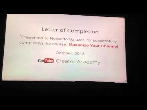 Youtube letter of completion youtube youtube letter of completion altavistaventures Choice Image