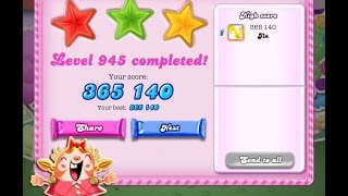 Candy Crush Saga Level 945     ★★★   NO BOOSTER