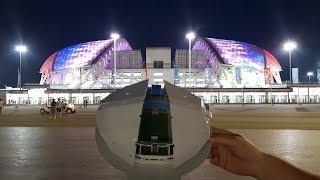 Собираем крутой 3D пазл. Стадион Фишт. Поющий фонтан.