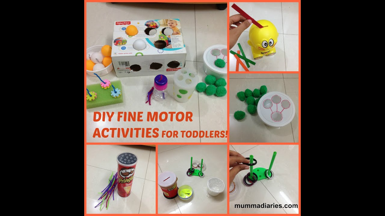 12 fun & simple FINE MOTOR ACTIVITIES for toddlers