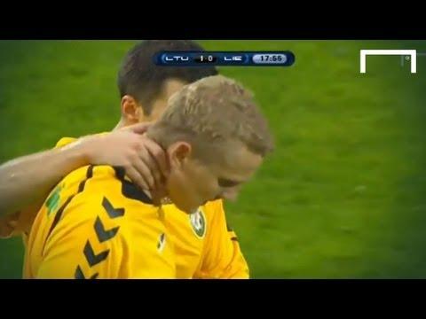 BIG Defensive Mistake - Lithuania v Liechenstein
