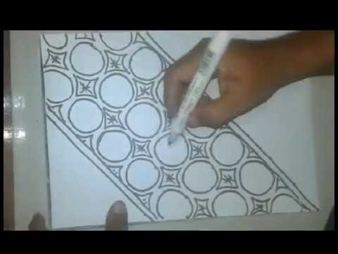 Cara Gambar Batik Pola Manual Asal Asalan Tapi Hasilnya