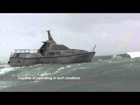 Two Barracuda's on rough weather sea trials in 'Storm Desmond'