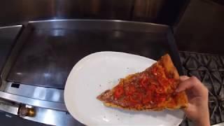 Late Night Pizza w/ Crispy Parmesan Crust