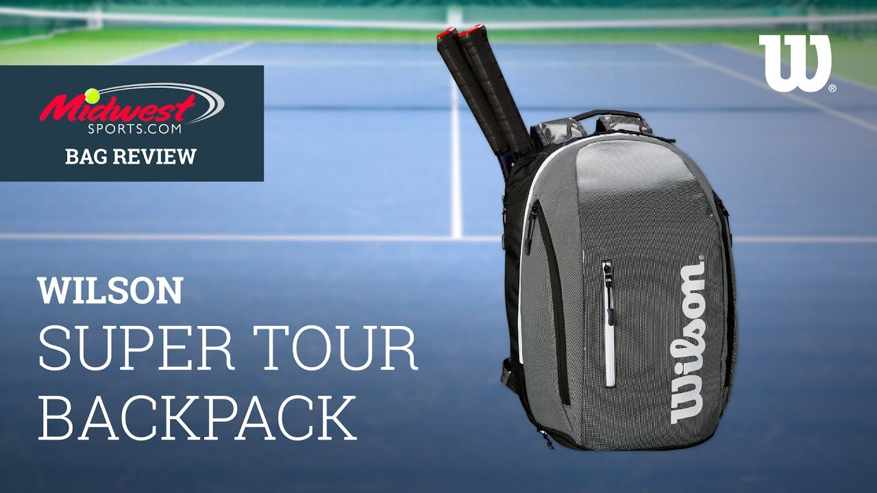 b31f265d2b Wilson Super Tour Backpack Review | Midwest Sports - YouTube