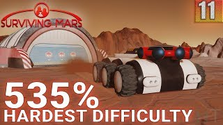 Surviving Mars 535% HARDEST DIFFICULTY - Part 11 - OVAL DOME! - Gameplay