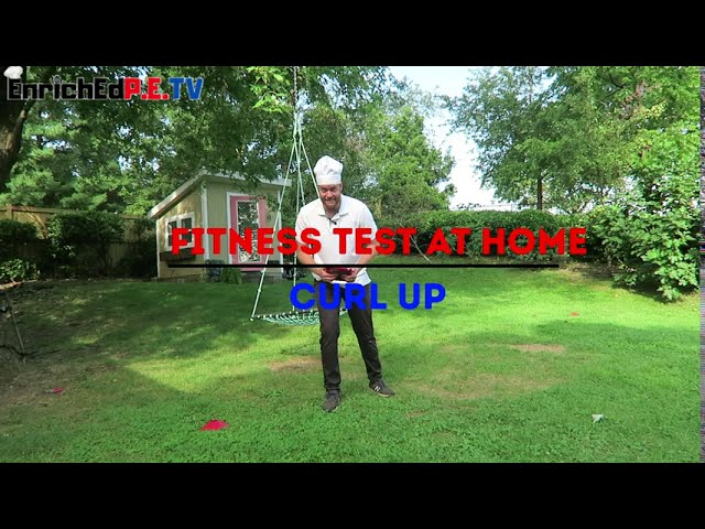PE Chef's Fitness Testing At Home: Curl Up