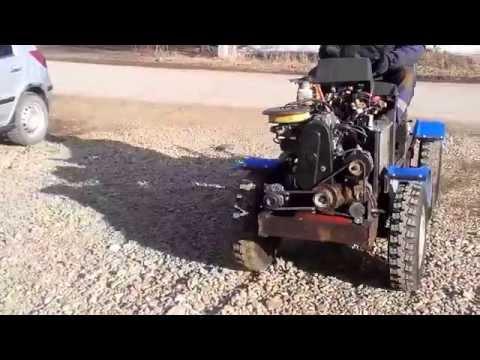 того, самодельный минитрактор с двигателем от оки своей задачей