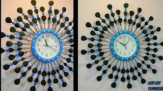 Diy Wall Clock Decor   Diy Floral Designer Wall Clock   Wall Clock   Wall Decor   Artmypassion