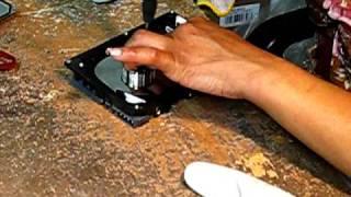 E-Waste: Dismantling a Hard Drive