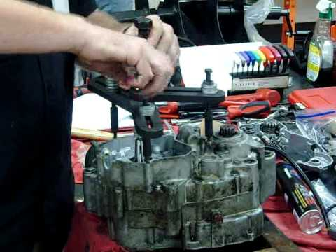 2-stroke dirtbike motocross crankcase splitting separation removal part 7