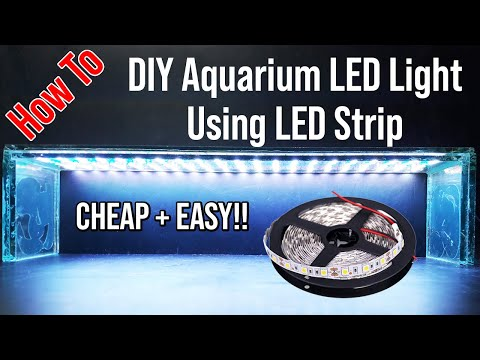 How To Make Build DIY Aquarium LED Light With RGB LED Strips (CHEAP And EASY)