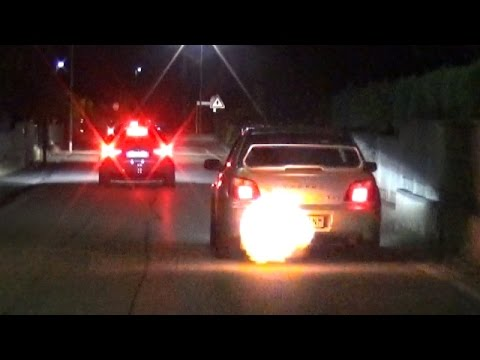Modified Cars Street Parade Night Show - LOUD Backfires, Accelerations & Launches!