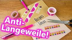 DIY Inspiration Challenge #119 | Ideen gegen Langweile Sommerferien Rezeptbuch DIY | Evas Challenge