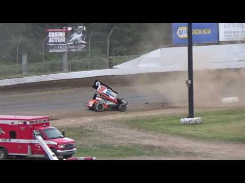 Grays Harbor Raceway, 2017 Fred Brownfield Classic, Night 1, Thrills and Spills