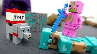#Майнкрафт видео: игрушки. Свинозомби украл алмазную руду! ИгроБой Егор и Стив