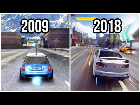 Evolution Of Android Asphalt Games 2009-2018