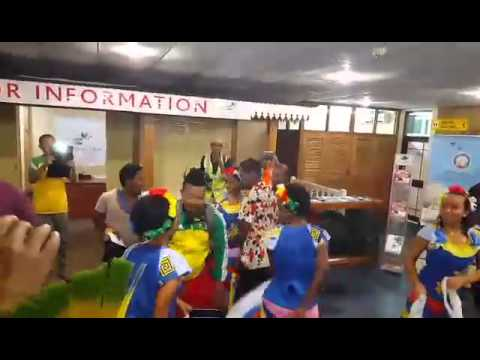 Walia Beer Main Sponsor Event | Ethiopian Fans at the Seychelles Airport