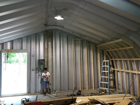 DIY How to Insulate a Metal Quonset Hut -  Please watch the series!