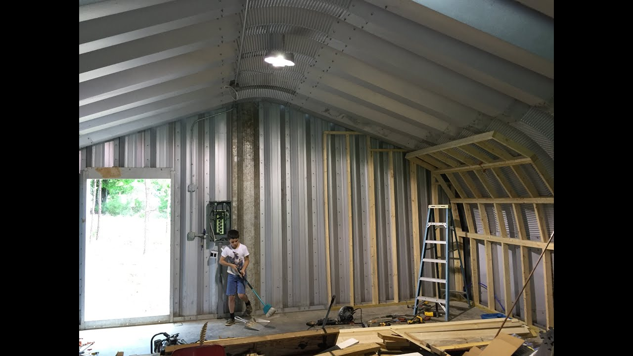 DIY How To Insulate A Metal Quonset Hut   Please Watch The Series!   YouTube