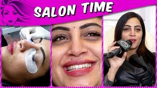 Ex Bigg Boss Contestant Arshi Khan Reveals Her BEAUTY SECRETS And Gets Permanent Eye Lashes
