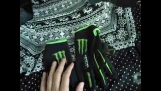 Unboxing Aliexpress 12 - Luva monster Energy e Blusa feminina