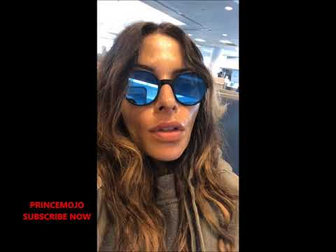 SARAH SHAHI STUCK AT THE AIRPORT INSTAGRAM LIVE 18042018