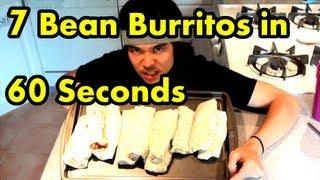 7 Taco Bell Burritos Eaten in 60sec. - 60 Second Series Ep.4