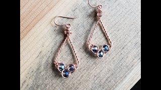 Wire Wrap Tutorial ~ Celtic Style Twisted Diamond Earrings - 17
