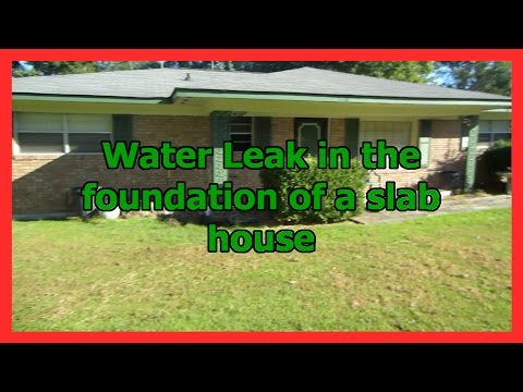 Water Leak in slab foundation of a house MUST SEE!!