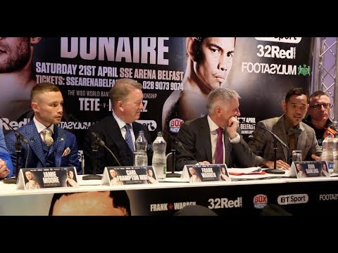 CARL FRAMPTON v NONITO DONAIRE - *FULL* (UNCUT) FINAL PRESS CONFERENCE WITH FRANK WARREN (BELFAST)
