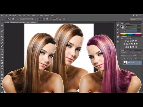 Photoshop tutorial : How to change hair color in photoshop cc ...